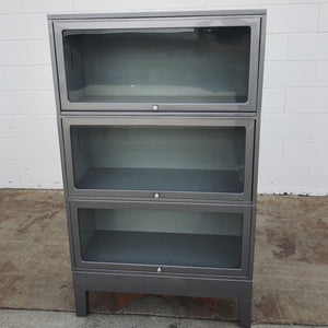 Vintage Steel Lawyer's Barrister Bookcase