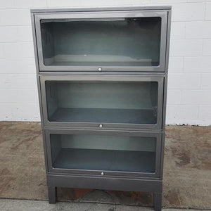 Vintage Steel Lawyers Barrister Bookcase