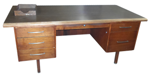 Vintage Wood 1960's Executive Desk
