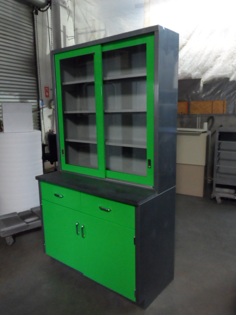 Industrial Work Bench With Hutch Retro Office Inc