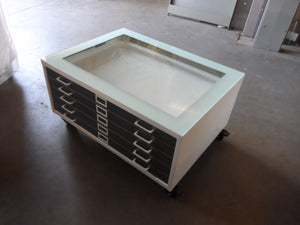 Small Size Steel Flat File Coffee Table