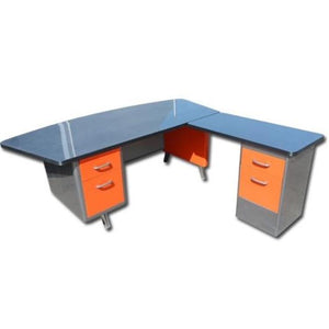 "69"" Allsteel Fan Top Tanker Desk With Return"