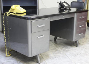 "60"" Allsteel Equipment Arch Leg Tanker Desk"