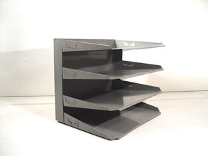Industrial In Out Tray Metal Paper Organizer