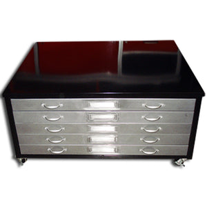 Large Size Steel Flat File Coffee Table