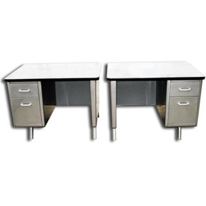 Allsteel Single Pedestal Tanker Desks