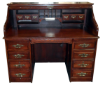 Vintage Jefferson Roll Top Desk