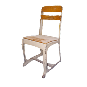 Vintage Kids School Chairs / Doll Chairs