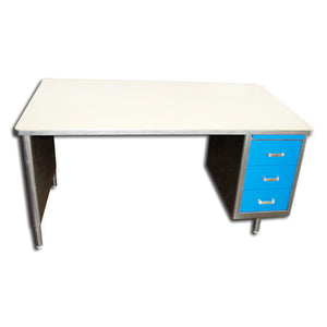 "78"" Oversized Single Pedestal Tanker Desks"