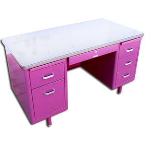 "McDowell & Craig 60"" Vintage Customizable Tanker Desk"