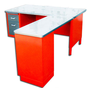 "60"" McDowell & Craig Tanker Desk With Return"