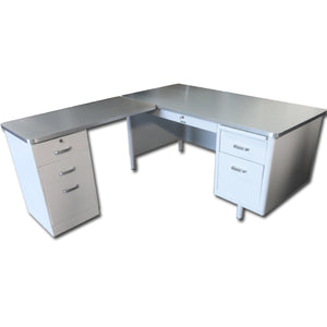 "78"" McDowell & Craig Tanker Desk With Return"