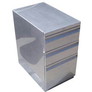 Box/Box/File Vintage Steel Pedestal
