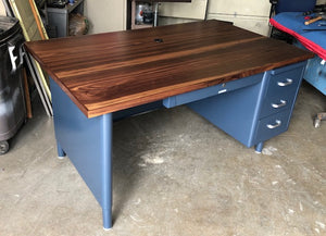 "60"" Oversized Single Pedestal Tanker Desks"