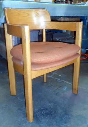 Vintage Wood Round Back Chair