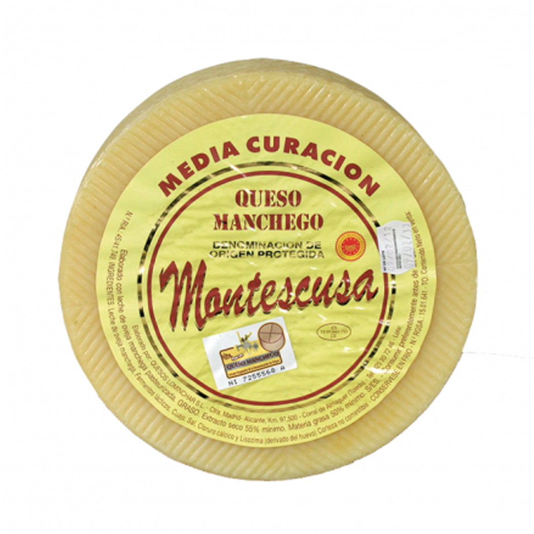 Manchego Cheese Montescusa Semi-Mature 3 meses 1 kg (2.2 lbs) Origin Spain