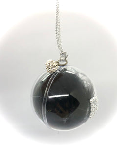 Small Black Feather Bauble