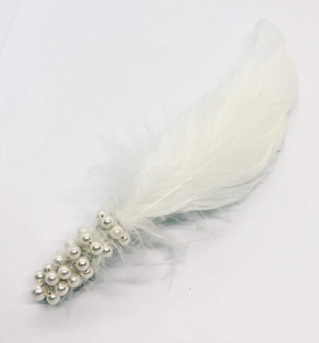 GRACE Feather Barrette