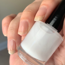Load image into Gallery viewer, argan infused milky base coat, quick dry, high shine nail polish base