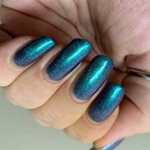 Load image into Gallery viewer, nail polish, swamp gloss, multichrome, green, blue, purple, aurora borealis, indie polish,