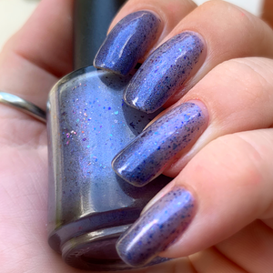 john wick inspired thermal polish, lilac to dusty violet, ucc flakes aqua shimmer, the continental