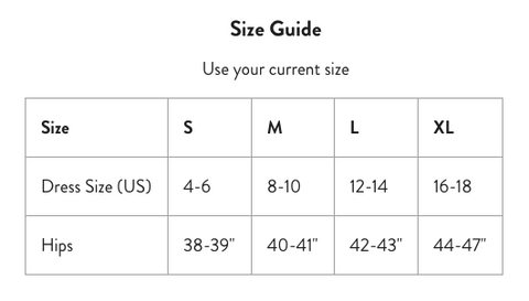 Bump Support Leggings Size Chart