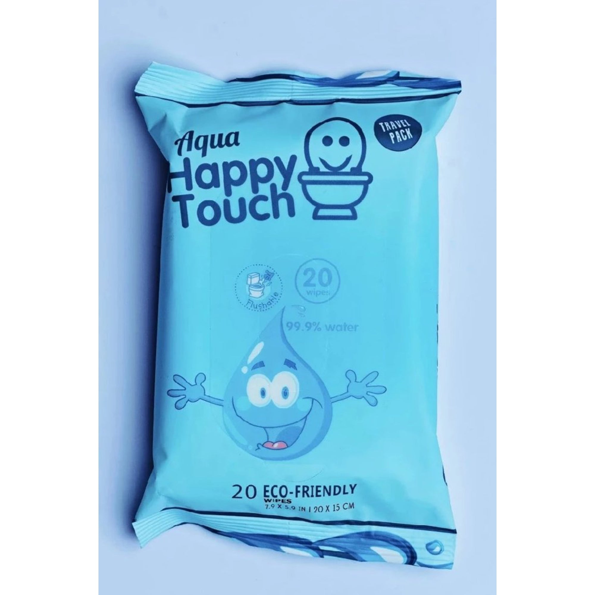 Aqua Happy Touch Flushable Wipes 20's-Wipes-Mother and Baby Shop Kenya's #1 Online Baby Shop
