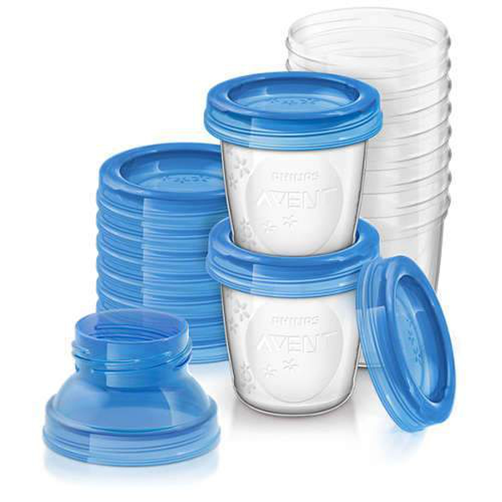Avent 10 Breast Milk Storage Cups 180ml-Breastmilk Storage-Mother and Baby Shop Kenya's #1 Online Baby Shop