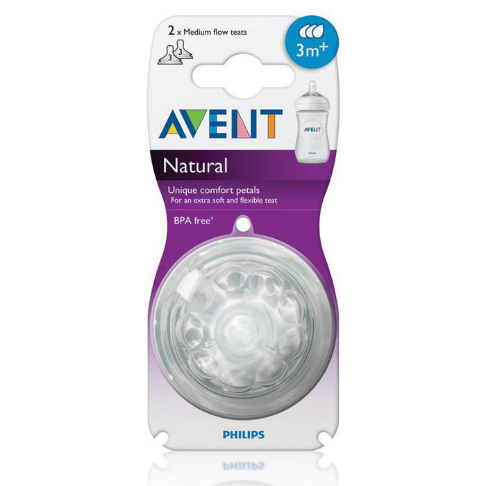 Avent 2 Medium Flow Teats 3M+ Natural-Teat-Mother and Baby Shop Kenya's #1 Online Baby Shop