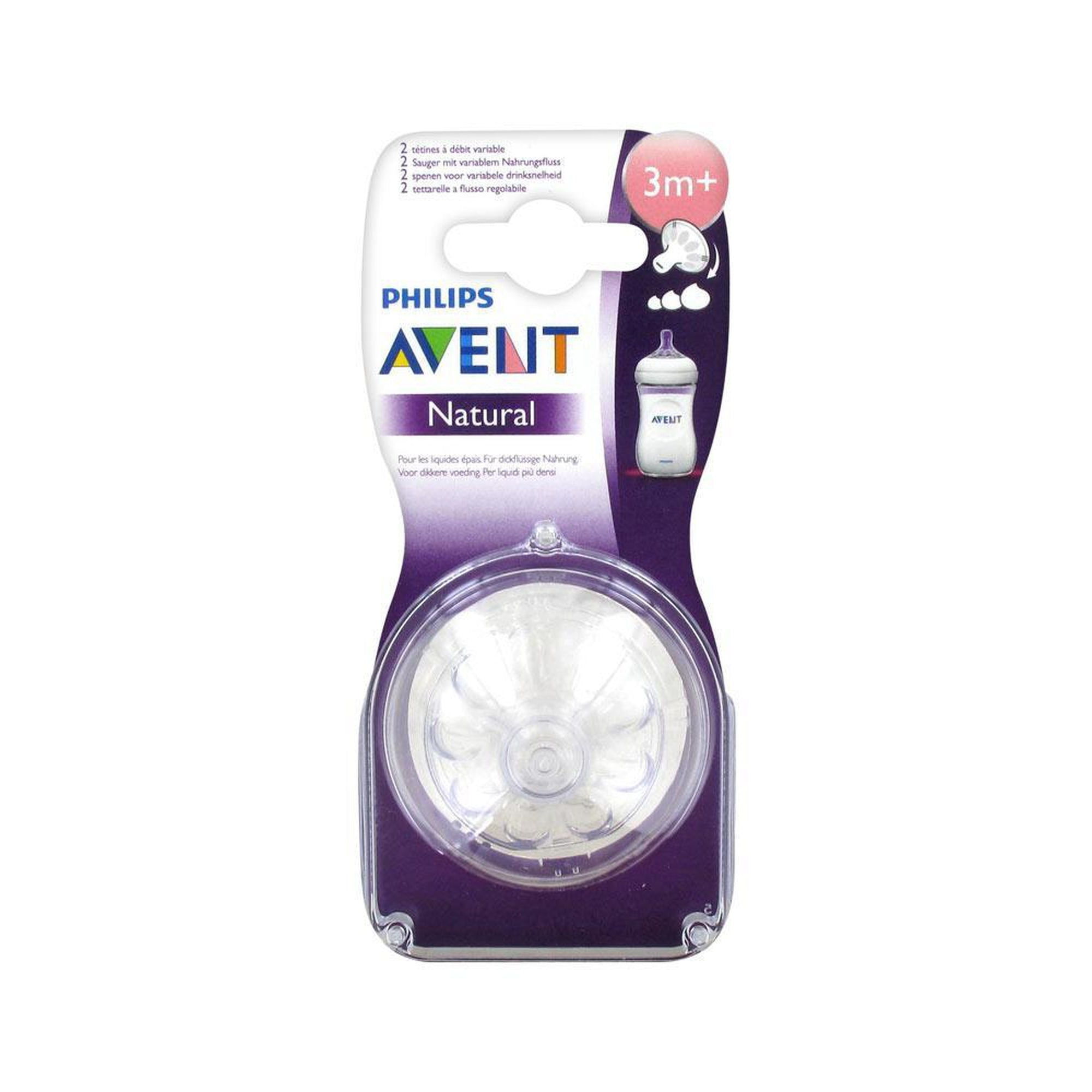 Avent 2 Variable Flow Teats 3M+ Natural-Teat-Mother and Baby Shop Kenya's #1 Online Baby Shop