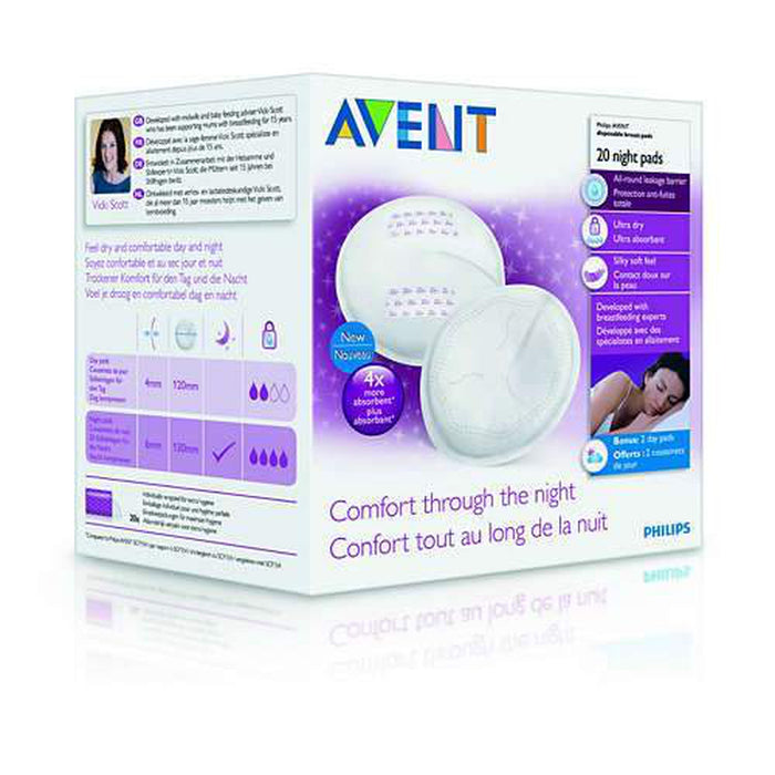 Avent 20 Night Breast Pads-Breast Pads-Mother and Baby Shop Kenya's #1 Online Baby Shop