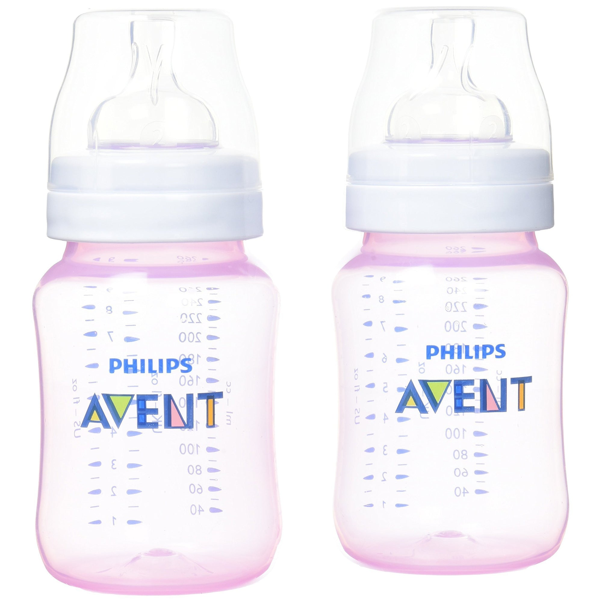 Avent Classic Feeding Bottle Colour 260ml (2 Pack)-Bottles-Mother and Baby Shop Kenya's #1 Online Baby Shop