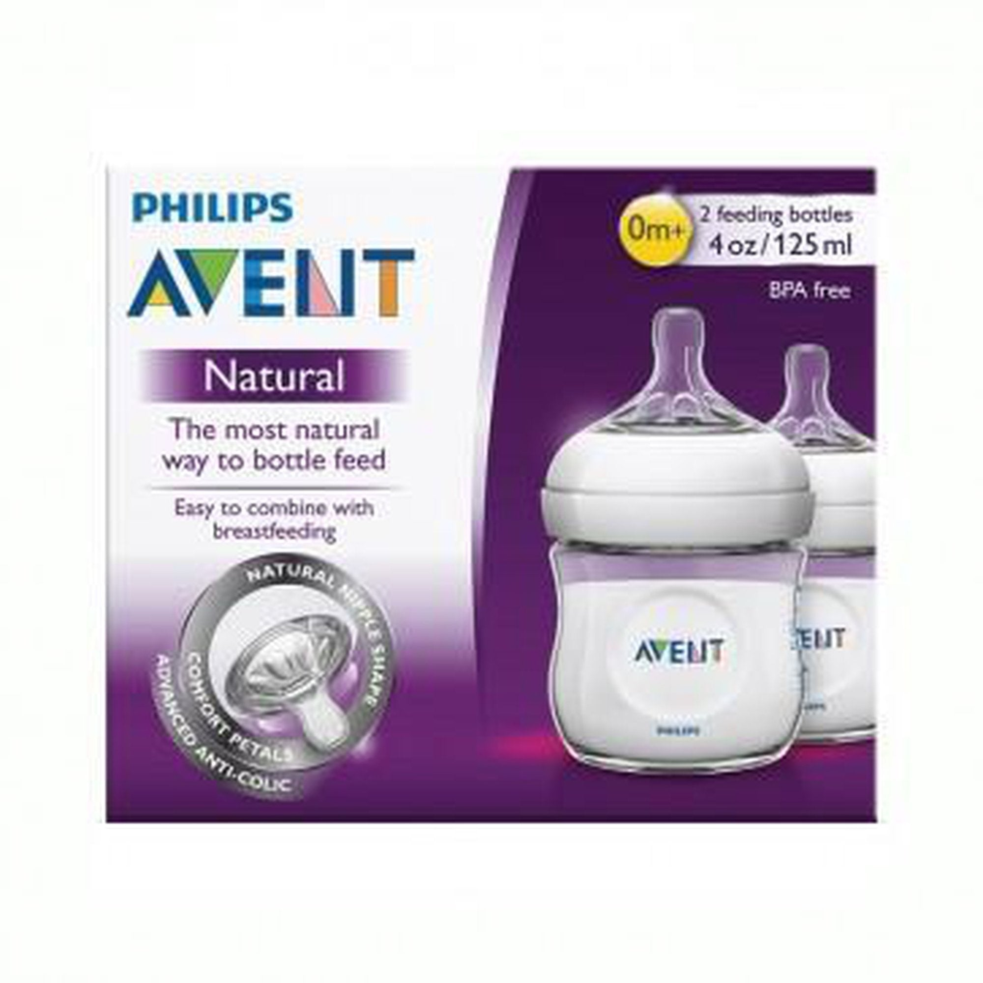 Avent Natural Feeding Bottle 125ml x 2-Bottles-Mother and Baby Shop Kenya's #1 Online Baby Shop