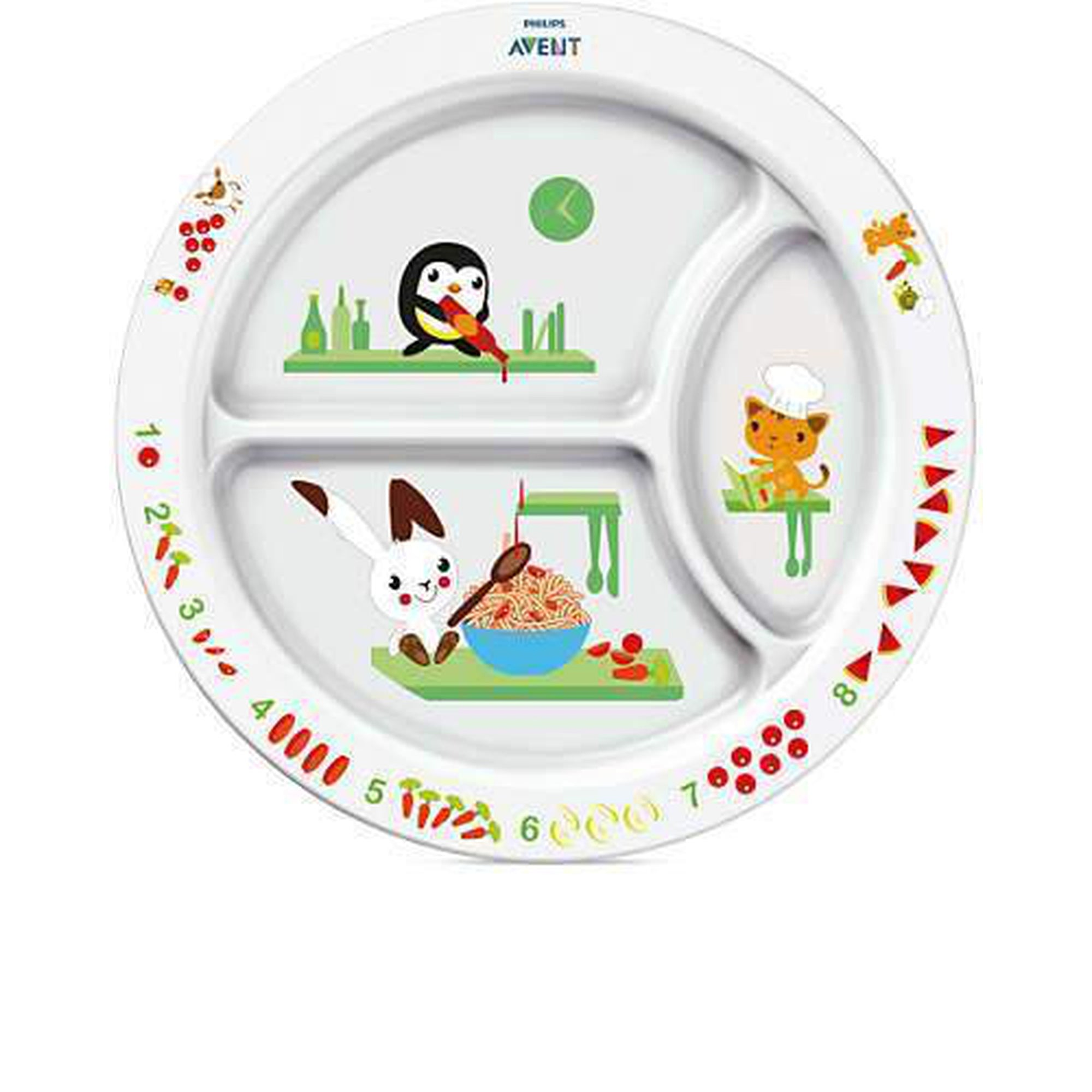 Avent Toddler Divider Plate 12M-Tableware Cutlery and Bibs-Mother and Baby Shop Kenya's #1 Online Baby Shop