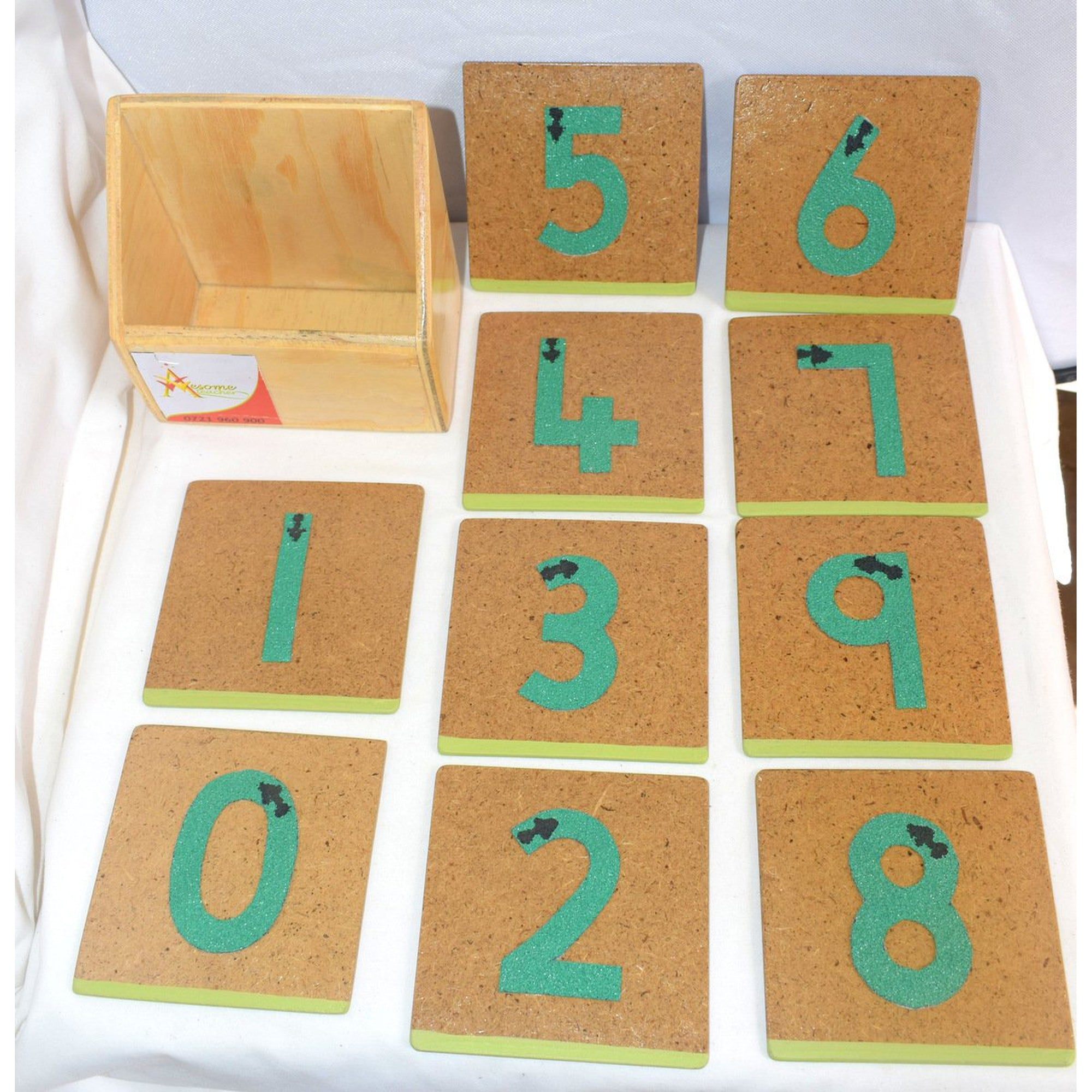 Awesome Teacher Sand Paper Numbers Set-Toys-Mother and Baby Shop Kenya's #1 Online Baby Shop