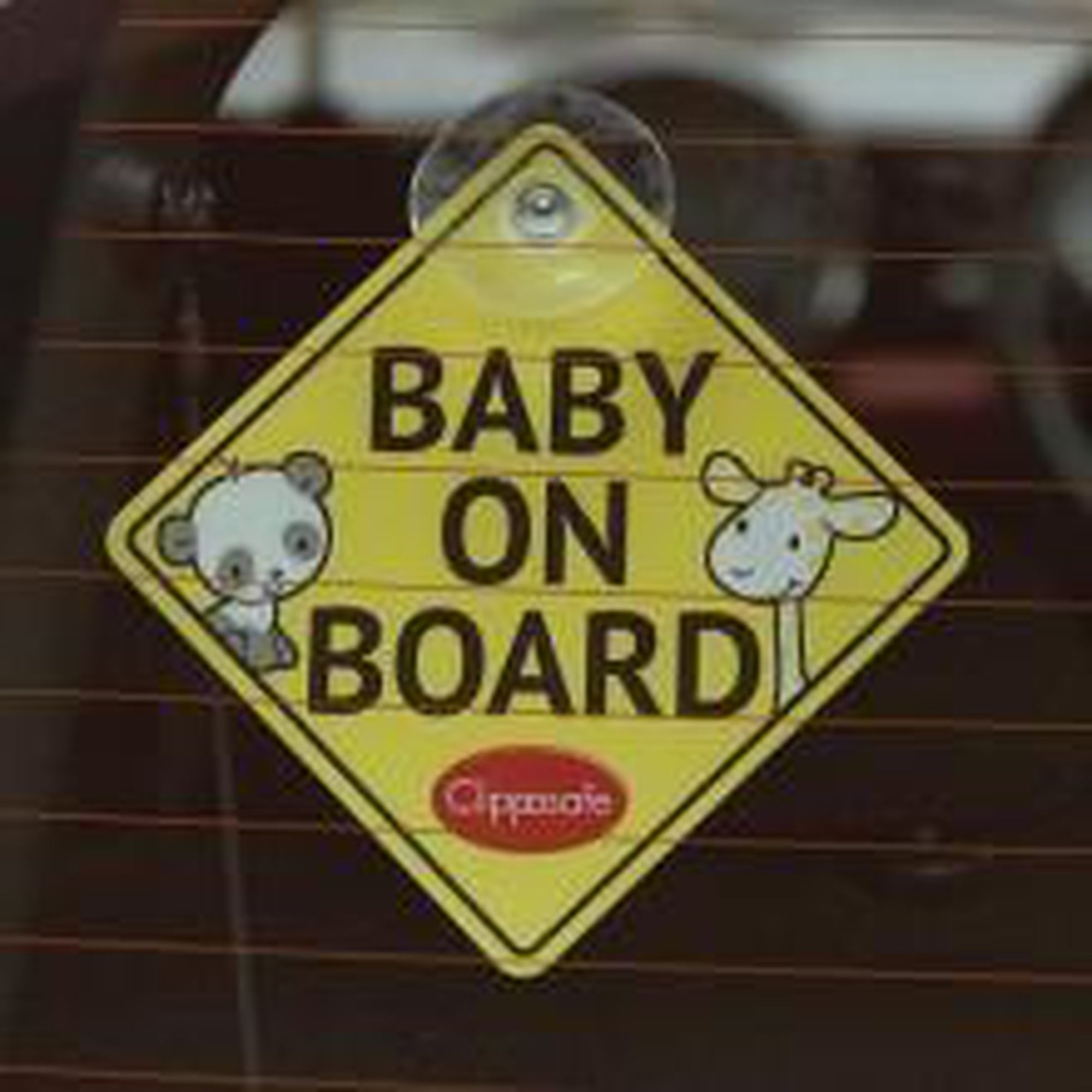 Clippasafe Baby On Board / Child On Board Sign - YELLOW-Car Safety Accessories-Mother and Baby Shop Kenya's #1 Online Baby Shop