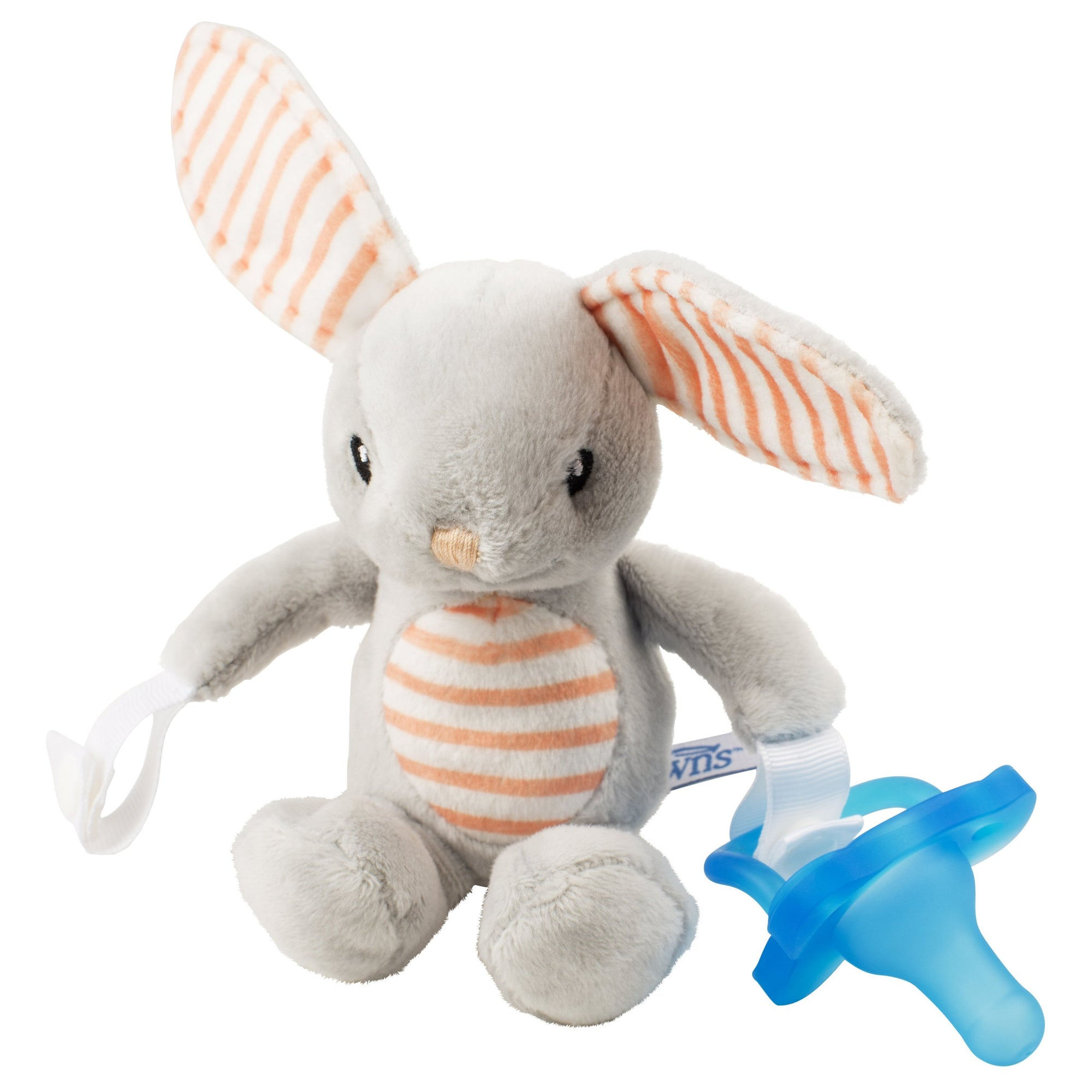 Dr. Brown's Bunny Lovey with Blue One Piece Pacifier-Pacifier-Mother and Baby Shop Kenya's #1 Online Baby Shop