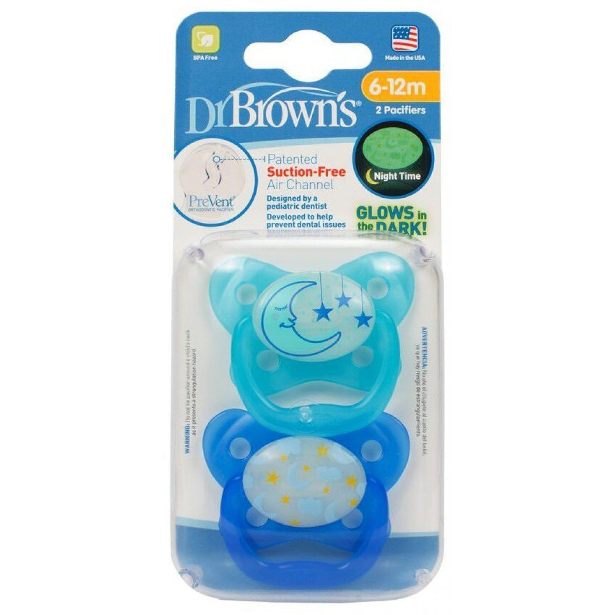 Dr. Brown's PreVent Glow in the Dark BUTTERFLY SHIELD Pacifier - Stage 2 * 6-12M - 2-Pack-Pacifier-Mother and Baby Shop Kenya's #1 Online Baby Shop