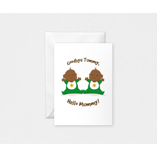 Hi Mummy Twins Card-Cards-Mother and Baby Shop Kenya's #1 Online Baby Shop