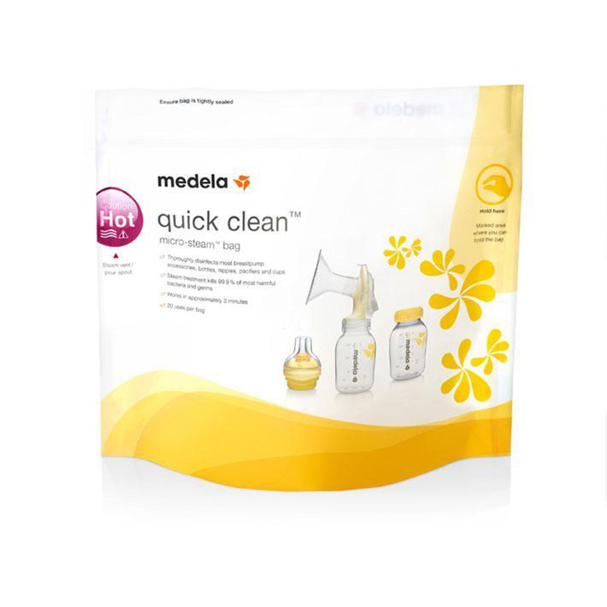 Medela Quick Clean™ Micro-Steam™ Bags - (5pc Pack)-Steriliser-Mother and Baby Shop Kenya's #1 Online Baby Shop