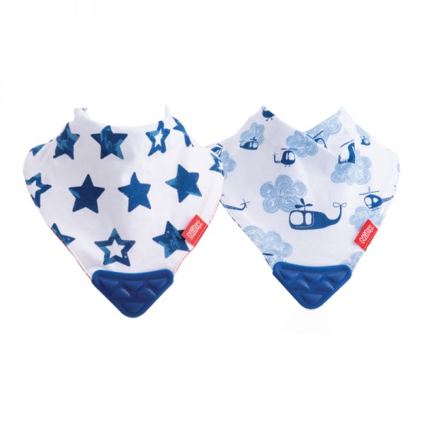 Nuby Bandana Bib with Teether 2Pk-Bib-Mother and Baby Shop Kenya's #1 Online Baby Shop