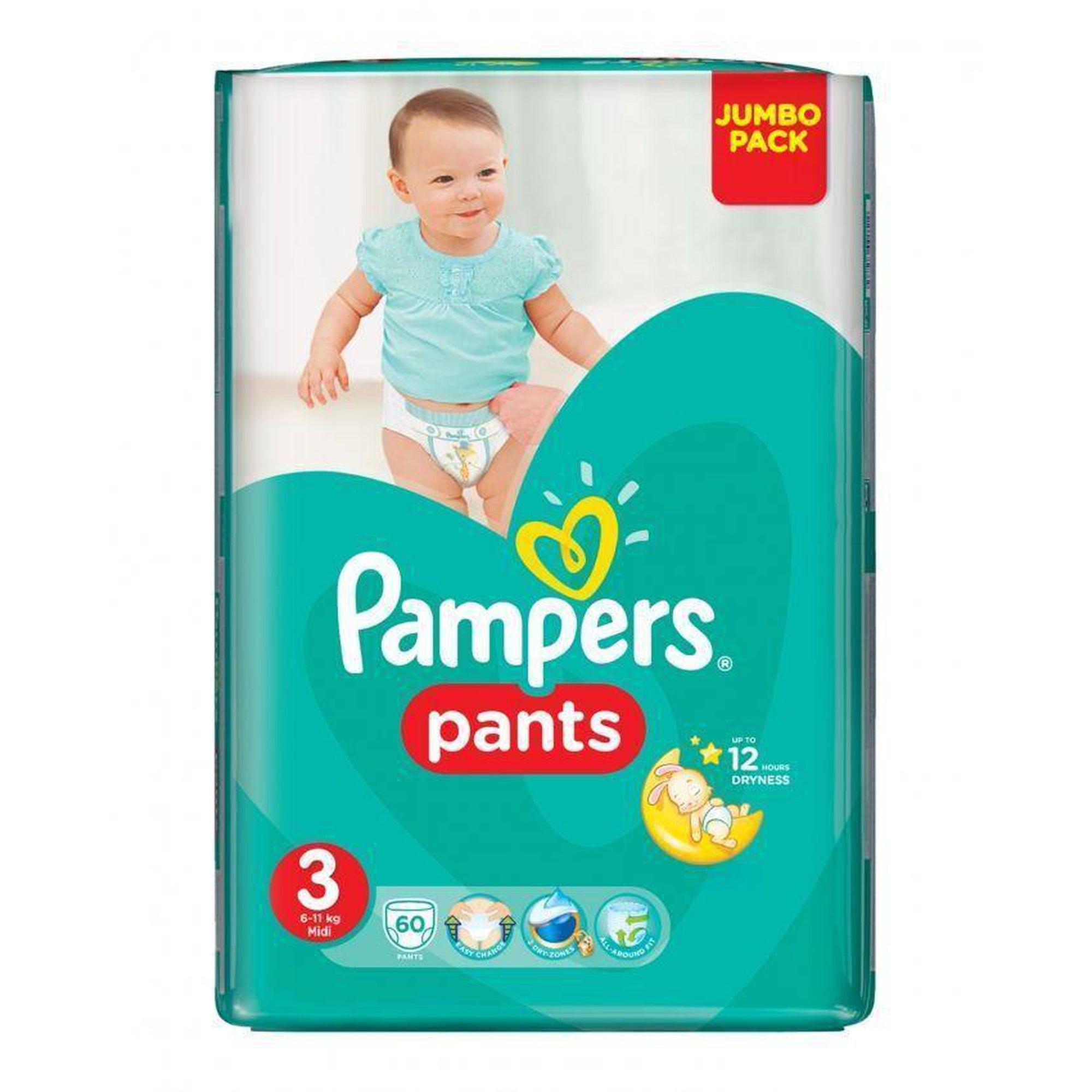 Pamper Pants Size 3 ( 6-11kgs) (62pc)-Diapers-Mother and Baby Shop Kenya's #1 Online Baby Shop