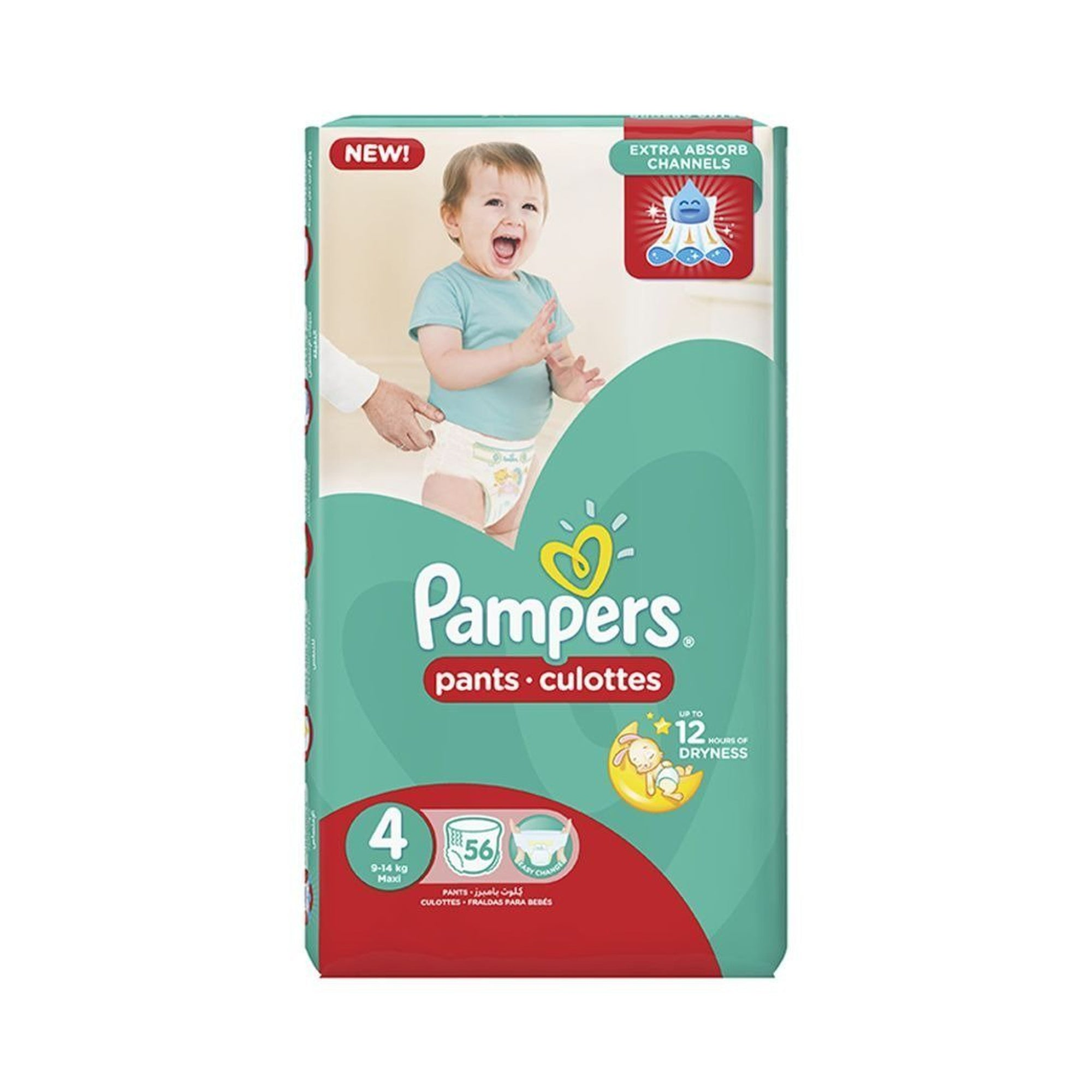 Pamper Pants Size 4 ( 9-14kgs) (56pc)-Diapers-Mother and Baby Shop Kenya's #1 Online Baby Shop