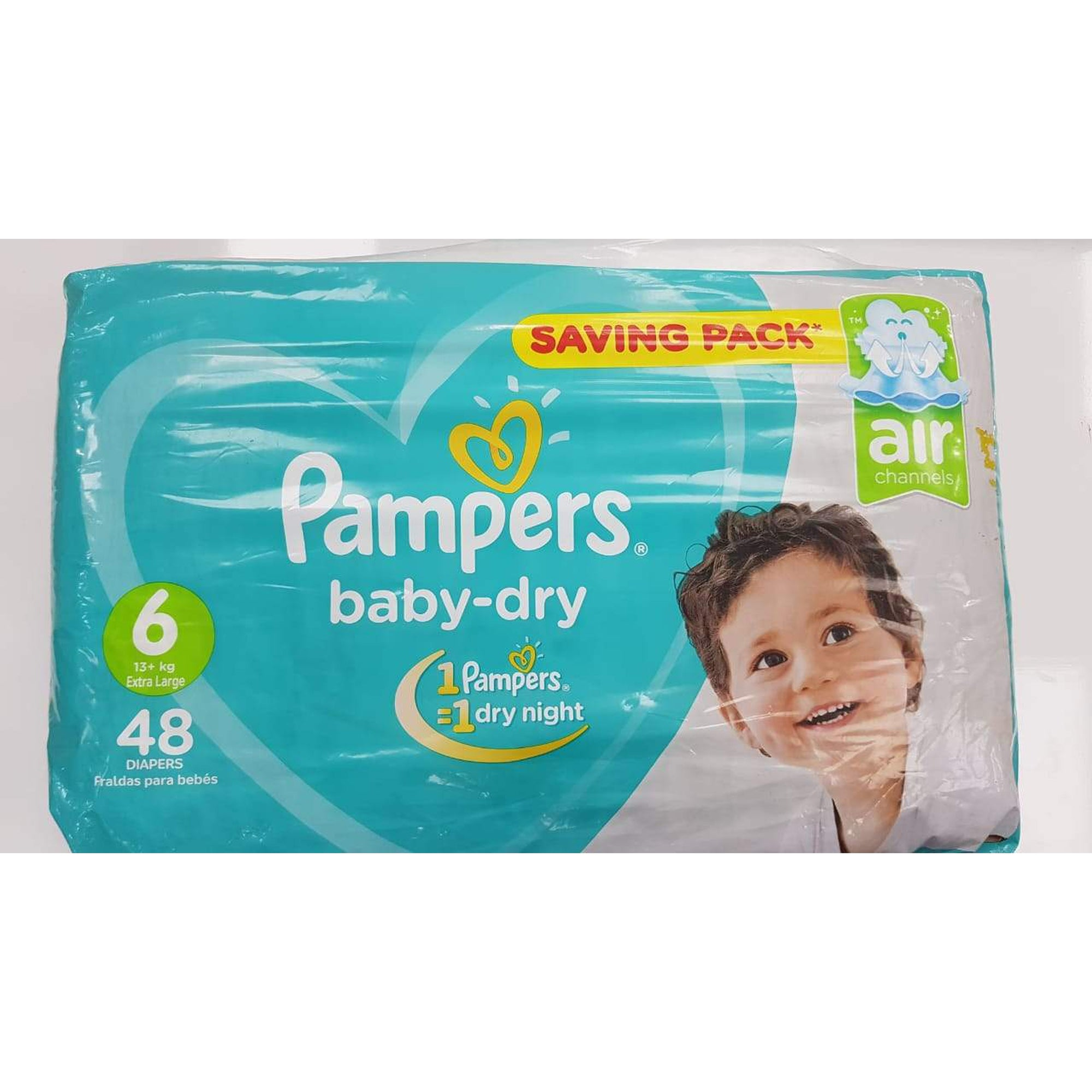 Pampers Diaper Baby Dry Junior Jumbo Pack S6 (13+ Kgs) 48-Diapers-Mother and Baby Shop Kenya's #1 Online Baby Shop