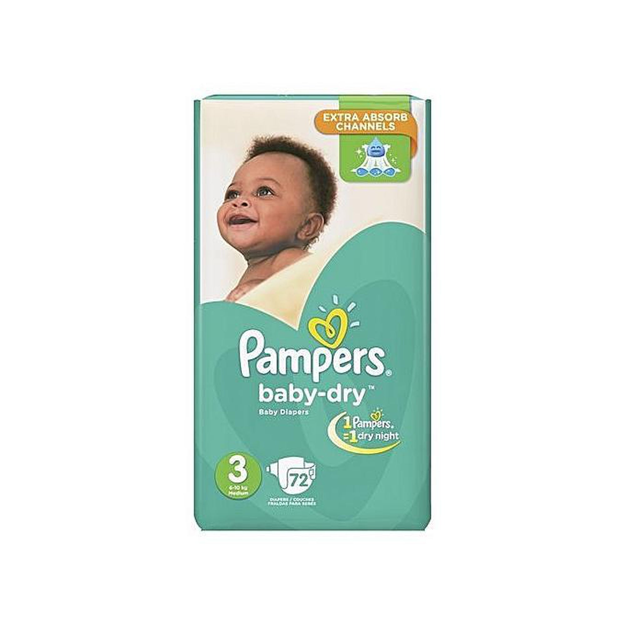 Pampers Diaper Baby Dry Midi Jumbo Pack S3 (6-10 Kgs) 72-Diapers-Mother and Baby Shop Kenya's #1 Online Baby Shop