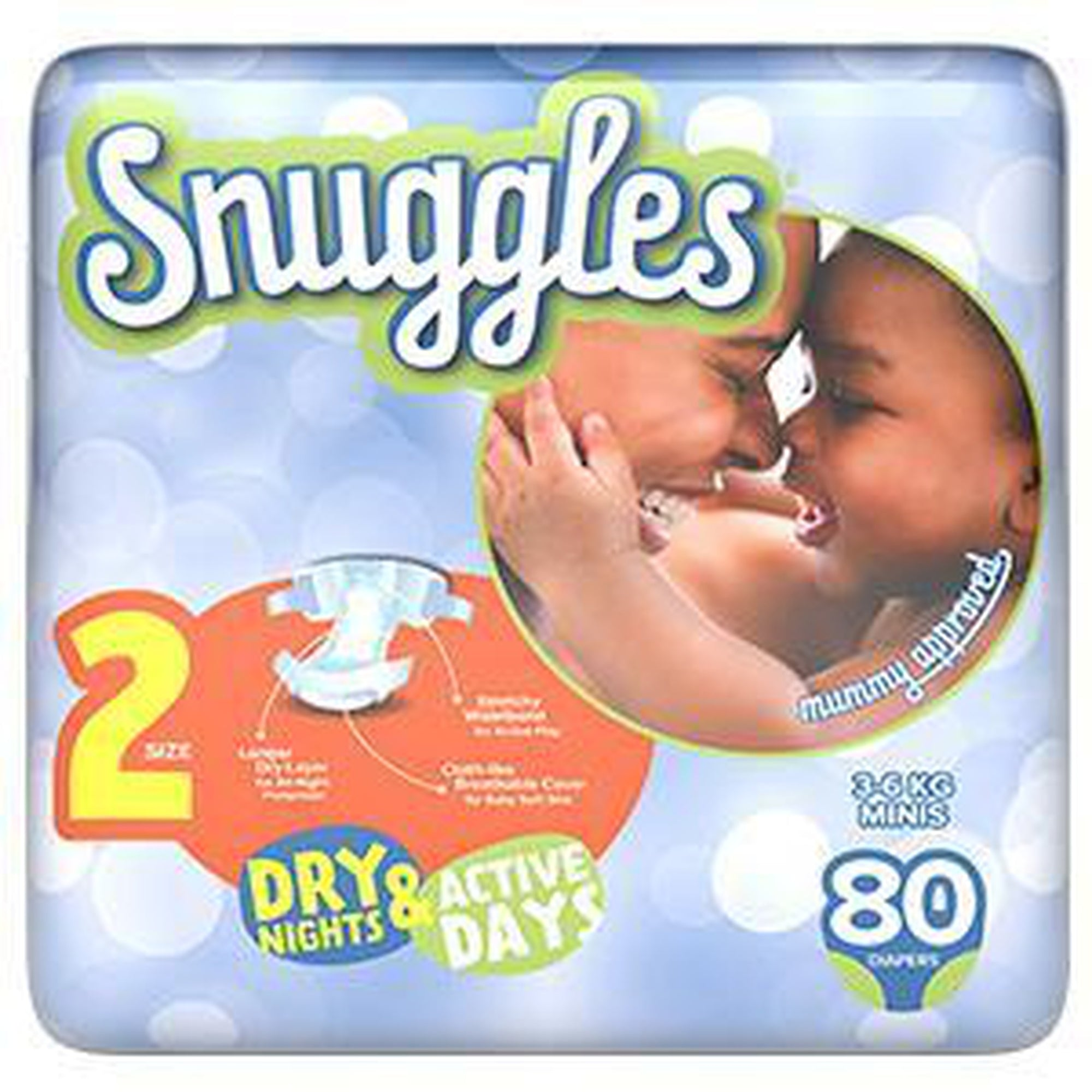 Snuggles Baby Diapers mini (Size 2) 3-6 Kg, Jumbo Pack 80s-Diapers-Mother and Baby Shop Kenya's #1 Online Baby Shop