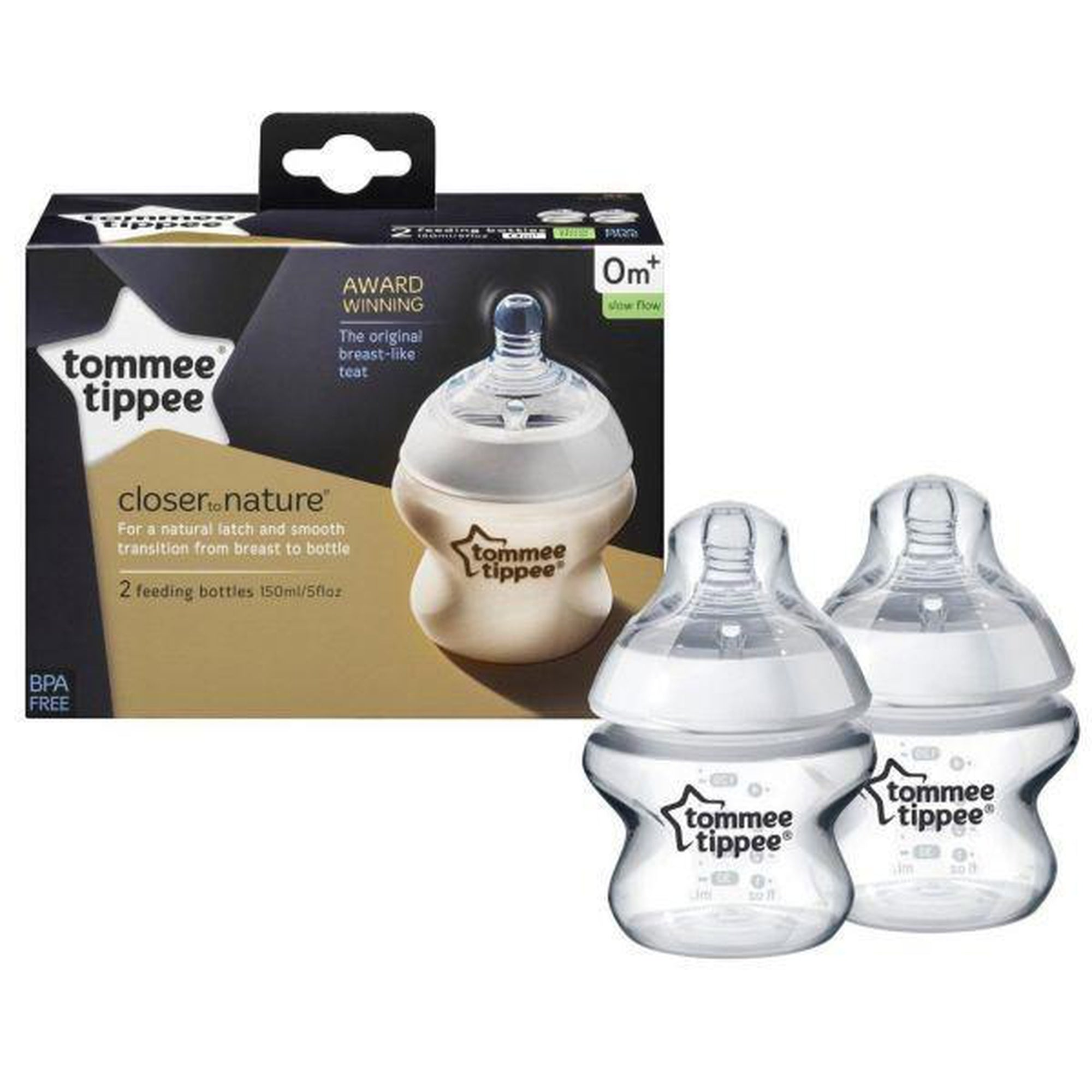 Tommee Tippee Feeding Bottle (2x150ml)-Bottles-Mother and Baby Shop Kenya's #1 Online Baby Shop