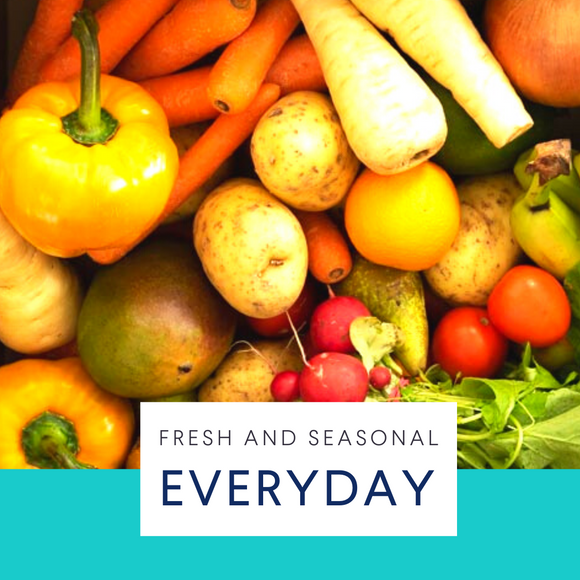 Everyday. Large seasonal fruit & veg box