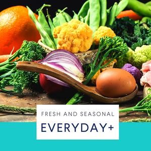 Everyday+ Large fruit & veg box, with bread & eggs