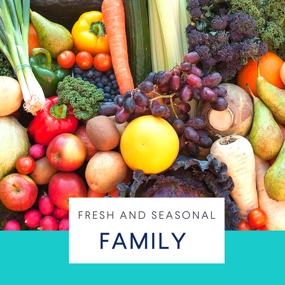 Family. Extra-large seasonal fruit & veg box